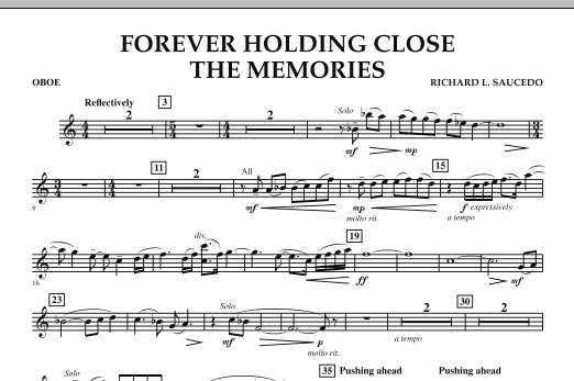 Forever Holding Close the Memories - Oboe (Concert Band)