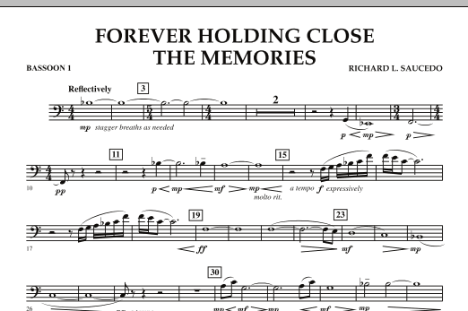 Forever Holding Close the Memories - Bassoon 1 (Concert Band)