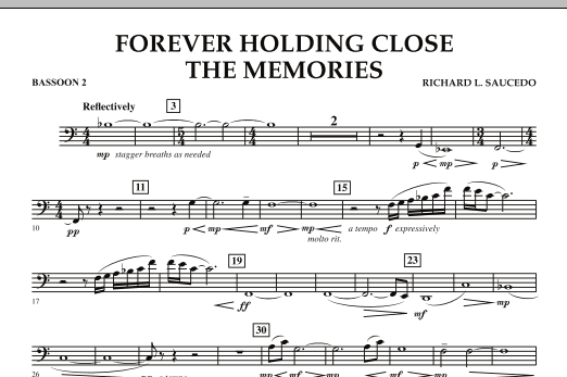 Forever Holding Close the Memories - Bassoon 2 (Concert Band)