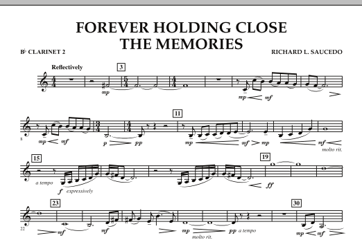 Forever Holding Close the Memories - Bb Clarinet 2 (Concert Band)