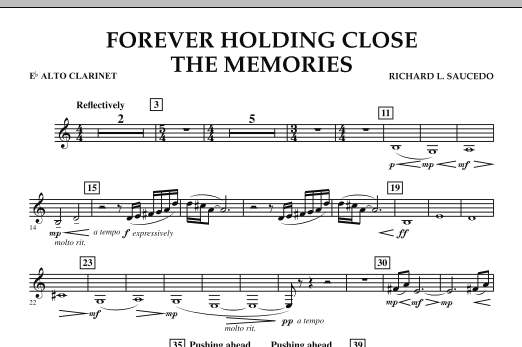 Forever Holding Close the Memories - Eb Alto Clarinet (Concert Band)