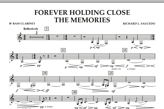 Forever Holding Close the Memories - Bb Bass Clarinet (Concert Band)
