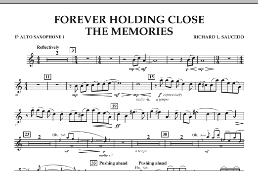 Forever Holding Close the Memories - Eb Alto Saxophone 1 (Concert Band)