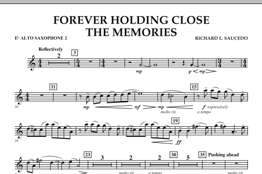Forever Holding Close the Memories - Eb Alto Saxophone 2 (Concert Band)