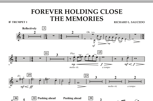 Forever Holding Close the Memories - Bb Trumpet 1 (Concert Band)