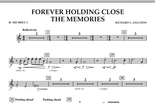 Forever Holding Close the Memories - Bb Trumpet 2 (Concert Band)
