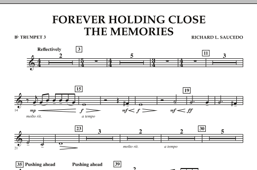 Forever Holding Close the Memories - Bb Trumpet 3 (Concert Band)