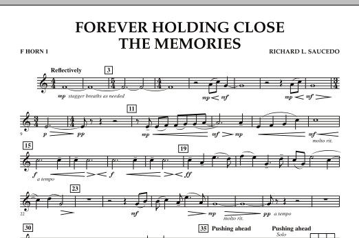 Forever Holding Close the Memories - F Horn 1 (Concert Band)