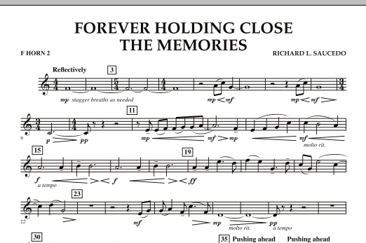 Forever Holding Close the Memories - F Horn 2 (Concert Band)