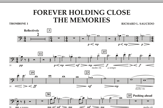Forever Holding Close the Memories - Trombone 1 (Concert Band)