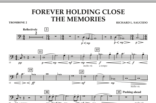 Forever Holding Close the Memories - Trombone 2 (Concert Band)