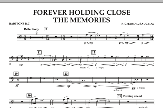 Forever Holding Close the Memories - Baritone B.C. (Concert Band)