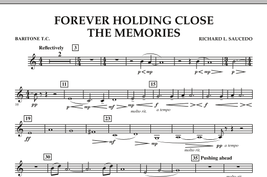 Forever Holding Close the Memories - Baritone T.C. (Concert Band)
