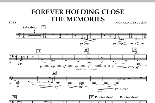 Forever Holding Close the Memories - Tuba (Concert Band)