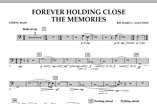 Forever Holding Close the Memories - String Bass (Concert Band)