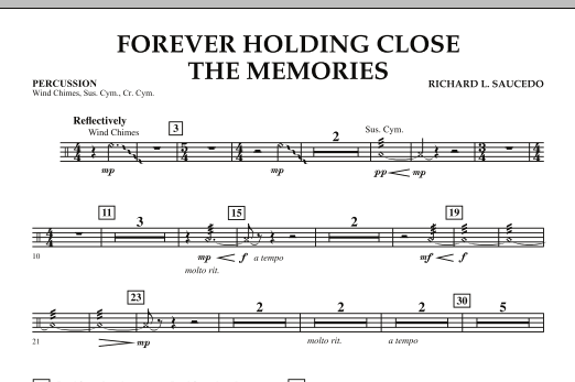 Forever Holding Close the Memories - Percussion (Concert Band)