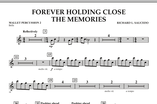 Forever Holding Close the Memories - Mallet Percussion 2 (Concert Band)