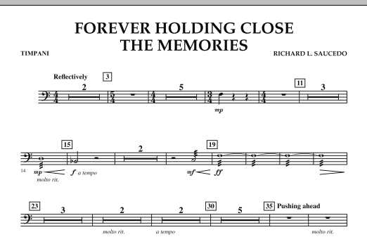 Forever Holding Close the Memories - Timpani (Concert Band)