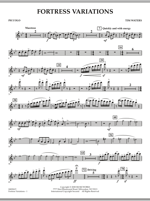 Fortress Variations - Piccolo (Concert Band)