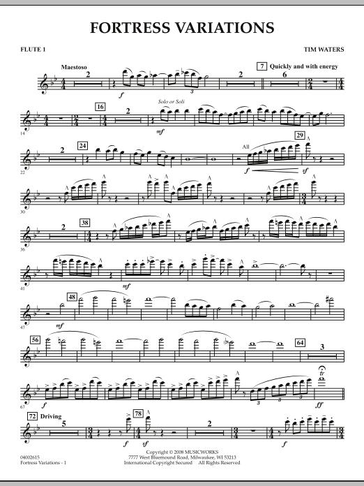 Fortress Variations - Flute 1 (Concert Band)