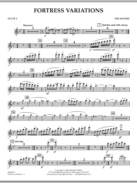 Fortress Variations - Flute 2 (Concert Band)