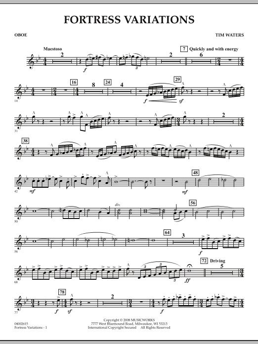 Fortress Variations - Oboe (Concert Band)