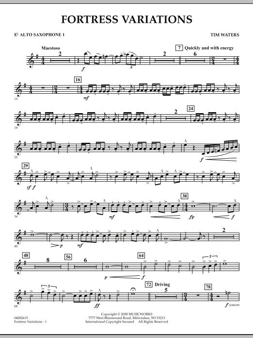 Fortress Variations - Eb Alto Saxophone 1 (Concert Band)