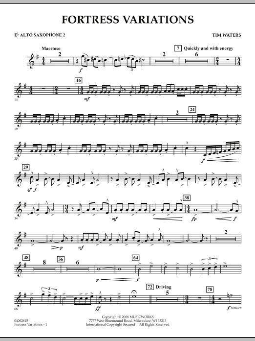 Fortress Variations - Eb Alto Saxophone 2 (Concert Band)