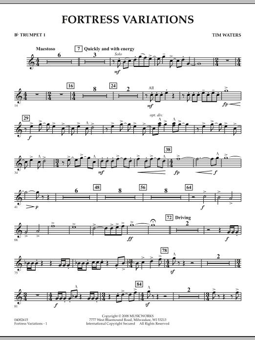 Fortress Variations - Bb Trumpet 1 (Concert Band)