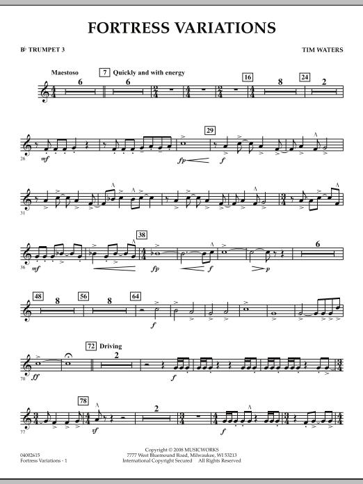 Fortress Variations - Bb Trumpet 3 (Concert Band)