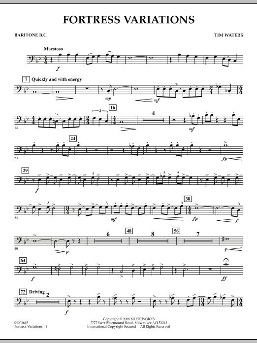 Fortress Variations - Baritone B.C. (Concert Band)