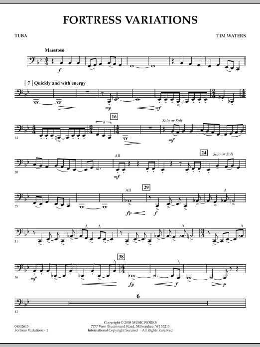 Fortress Variations - Tuba (Concert Band)