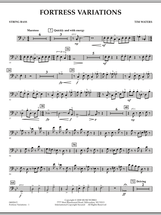Fortress Variations - String Bass (Concert Band)