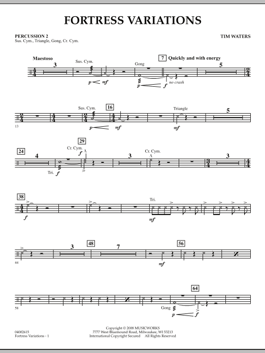 Fortress Variations - Percussion 2 (Concert Band)