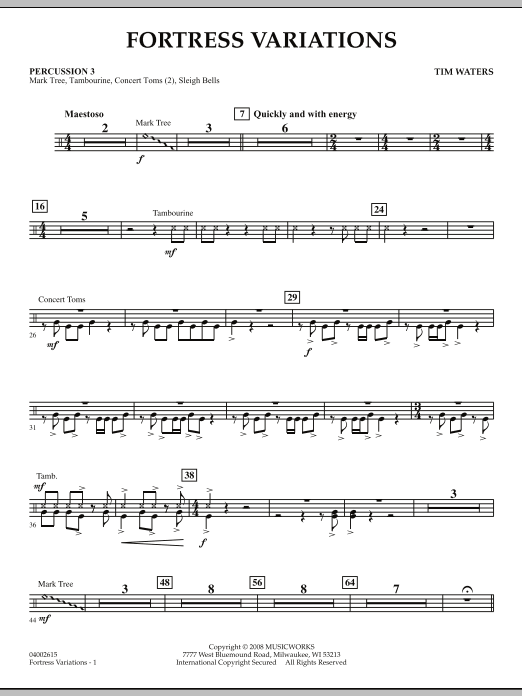 Fortress Variations - Percussion 3 (Concert Band)