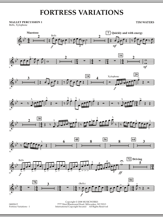 Fortress Variations - Mallet Percussion 1 (Concert Band)