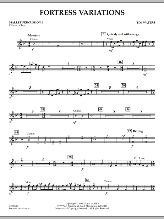Fortress Variations - Mallet Percussion 2 (Concert Band)