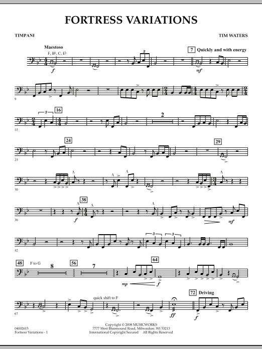 Fortress Variations - Timpani (Concert Band)