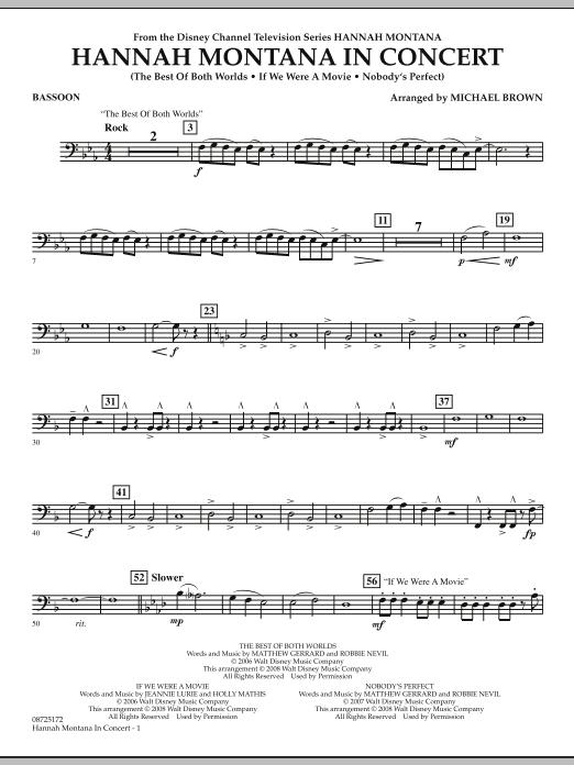Hannah Montana in Concert - Bassoon (Concert Band)