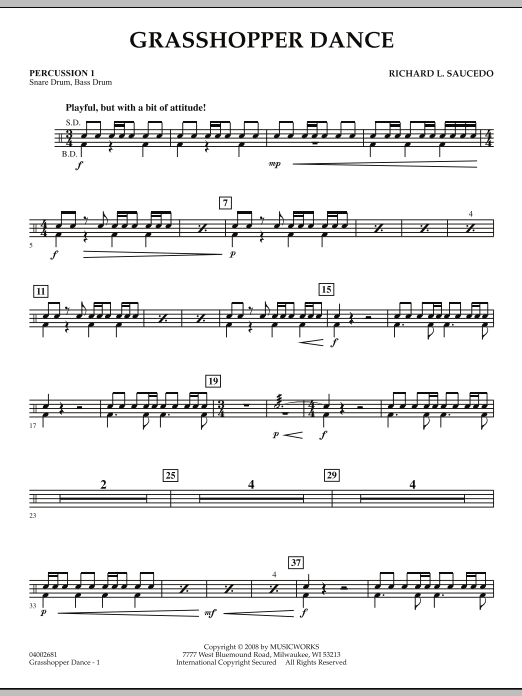 Grasshopper Dance - Percussion 1 (Concert Band)