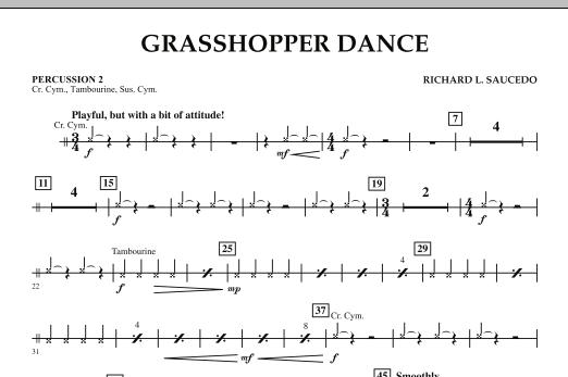 Grasshopper Dance - Percussion 2 (Concert Band)