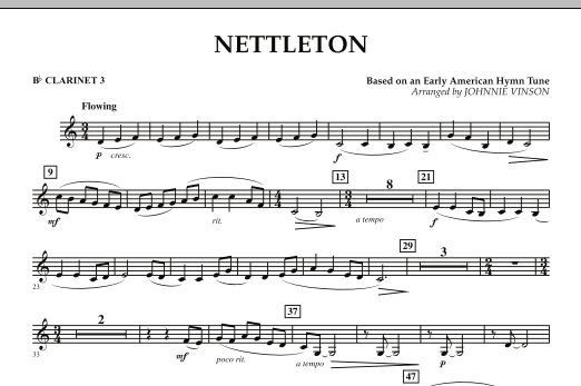 Nettleton - Bb Clarinet 3 (Concert Band)