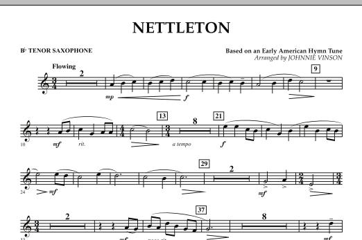 Nettleton - Bb Tenor Saxophone (Concert Band)