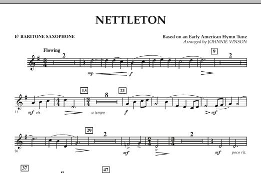 Nettleton - Eb Baritone Saxophone (Concert Band)