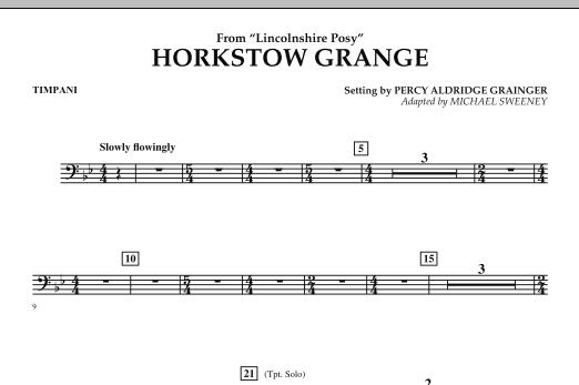 Horkstow Grange - Timpani (Concert Band)