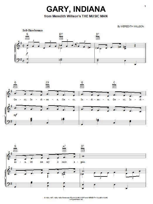 Gary, Indiana (Piano, Vocal & Guitar (Right-Hand Melody))