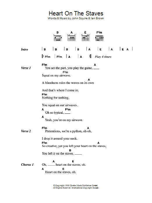 Heart On The Staves Sheet Music