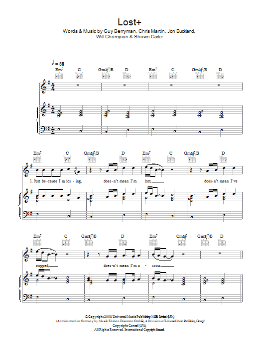Lost+ (feat. Jay-Z) Sheet Music