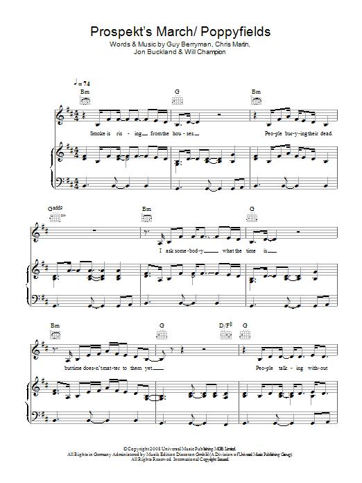 Prospekt's March / Poppyfields (Piano, Vocal & Guitar)