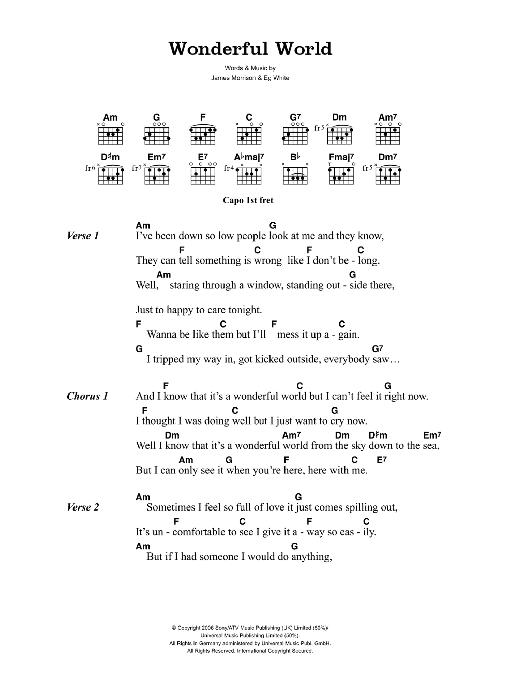 Wonderful World by James Morrison - Guitar Chords/Lyrics - Guitar ...
